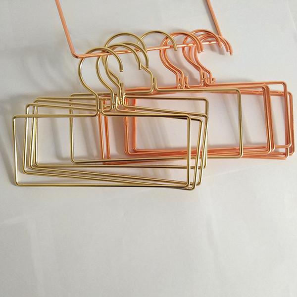 Rose Gold Metal Hanger Towel Socks Clothes Storage Rack Lingerie Bra Organizer