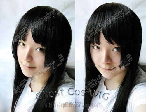 cartoon Light tone girls Akiyama Mio mio cosplay wig 80cm