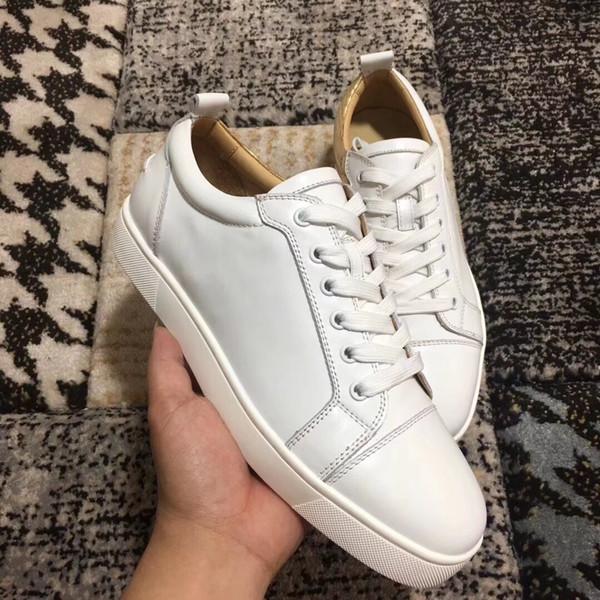 2019 NOUVEAU Chaussures de marque Designer décontractées low-Top junior en or blanc véritable cuir pour les chaussures de sport de marque