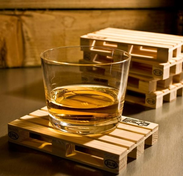 2019 Rectangle Mini Wooden Pallet Coaster Set Whiskey Wine Glass Cup Mat  Pad Hot Cold Drink Wood Table Mat Bar Tool SN3976 From Szyang, $5 58 |