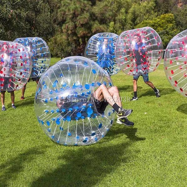 Envío Gratis 1.5 M Burbuja Inflable Balones de Fútbol Bumper Fútbol Aire Cuerpo Zorb Bola Burbuja Para Fútbol Burbuja Para Adultos