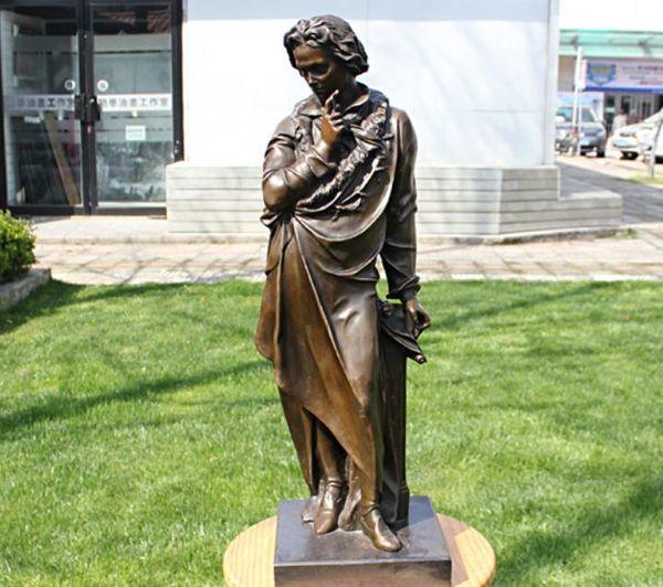 Beethoven, músico Muebles para el hogar figura arte regalos empresariales estatua de bronce Hotel decoración decoración artesanía