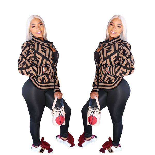 best selling Women's Zipper Jacket Letter Print Crew Neck Baseball Jackets Long Sleeve Women Coat Designer Sports Casual Club clothing 2019 A3138
