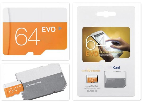 Best Products To Dropship 2020.2019 2020 Best Seller Dropship Evo Orange U1 80mpbs 256gb 32gb 64gb 128gb Tf Card Free Sd Adapter Free Retail Blister Packaging Android Robot C10 From
