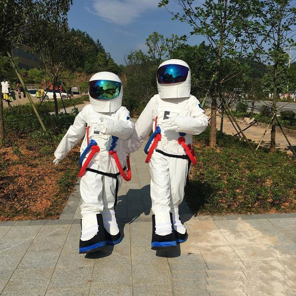 2019 High quality Space suit mascot costume Astronaut mascot costume with Backpack with LOGO glove,shoes, Free Shipping Adult Size