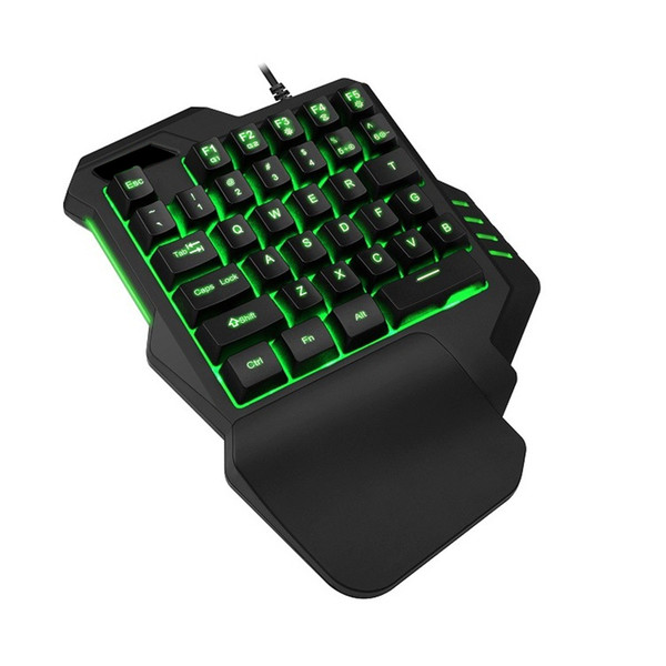 G92 Mechanical Feel Gaming Keyboard Wired with LED Backlight 35 Keys One-handed Membrane teclado gamer For FPS LOL/PUBG/CF/CS