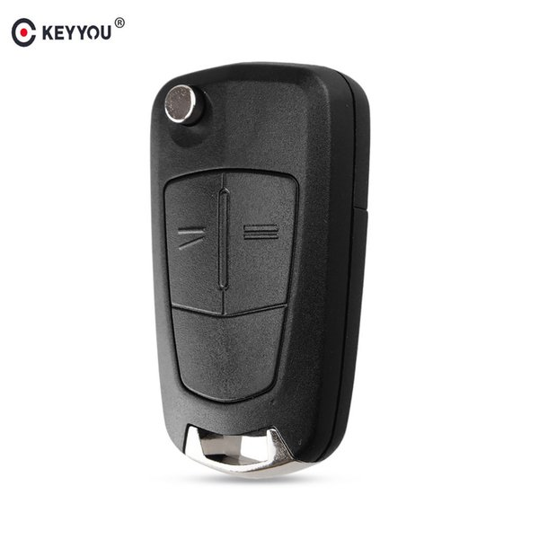 KEYYOU 2 Buttons Flip Remote Folding Car Key Cover Fob Case Shell Styling Case For Vauxhall Corsa Astra Vectra Signum