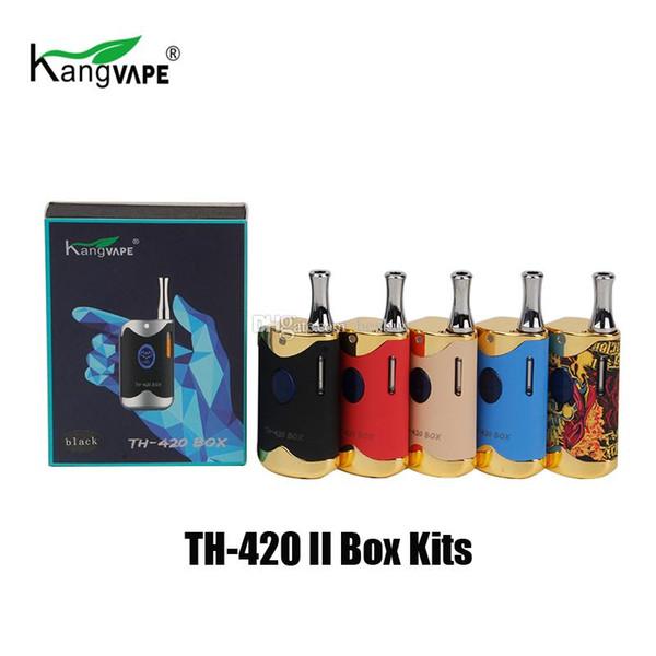100% original Kangvape TH420 II Starter Kit con 650 mAh TH420 2 Vape caja Mod Grueso aceite cartucho atomizador genuino