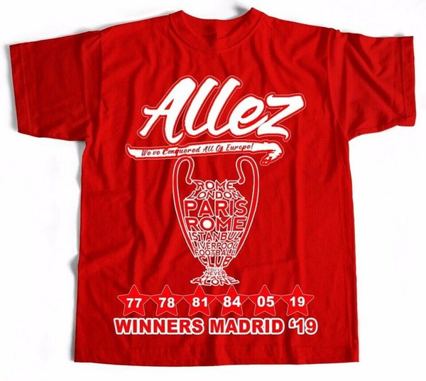 T Shirt WINNERS 2019 Madrid Salah red