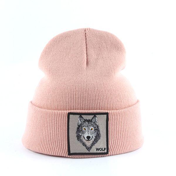 волк розовый