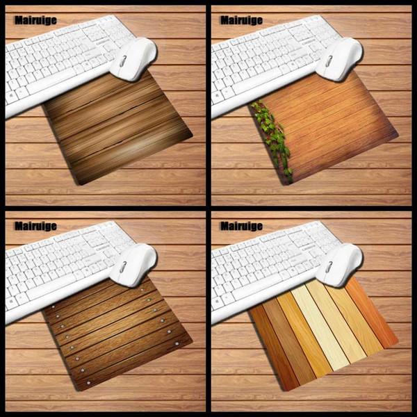 Mairuige madeira tarja de borracha mouse pad tamanho pequeno rato game pad desktop mat