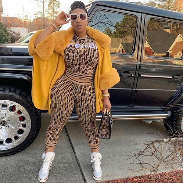 2019 Summer Designer Brand Tracksuit Ladies Short Sleeve T-shirt Pants Two-piece Sets Sports Women Sweater Sweatshirt Tops Trousers Suits
