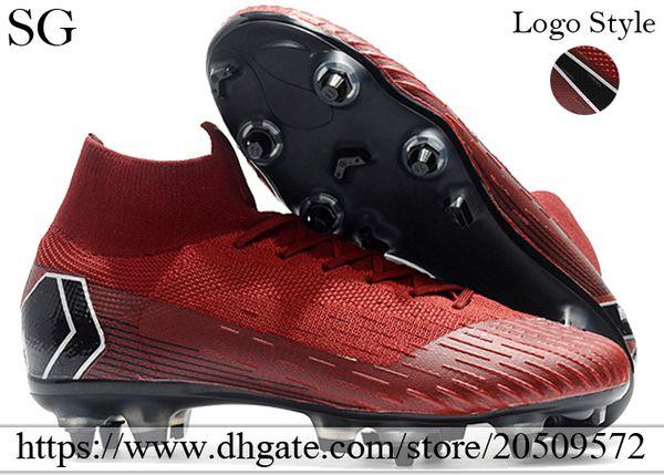 7c99fba9 2019 новые высокие топы футбольные бутсы носки Mercurial Superfly VI SG ACC  футбольные бутсы кроссовки мужские шипованные футбольные бутсы бордовый  черный с ...