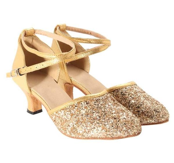 Femmes Ladies Party Salle de bal de danse latine Salsa Tango de Heeled Chaussures Sandales de danse pour les vêtements de danse latine Accessoires Nouveau