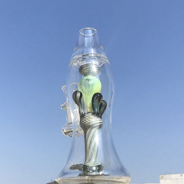 2019 Newset Heady Glass Bong Thick Water Pipes Lava Lamp Oil Dab Rigs 14mm Female Joint Bottle Bong with Bowl XL-LX3