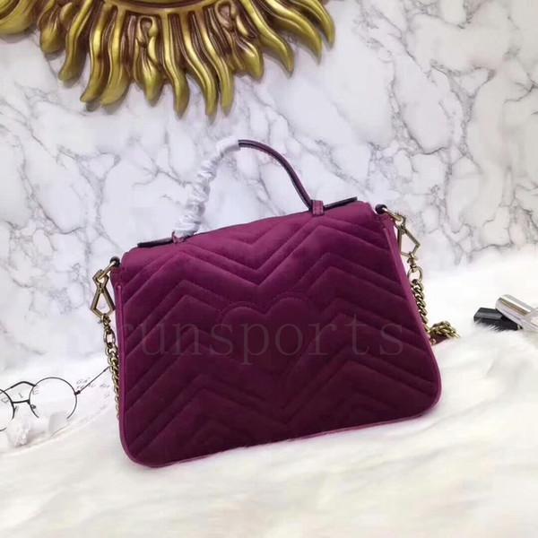5 couleurs sac haute qualité sac concepteur g g femmes de velours suide de marmont sylvie épaule rose sacs à main d'embrayage sac rouge 27cm messager nouveau 356a #