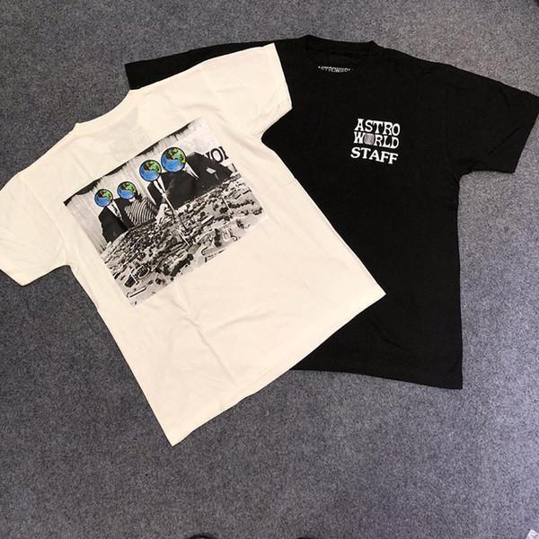 19ss Travis Scott Astroworld personale Tee casual Via Skateboard maniche corte estiva traspirante Uomini T-shirt HFTTTX024