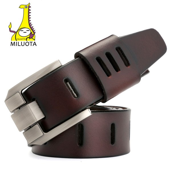 [miluota] Designer Belts Men High Quality Genuine Leather Belt For Men Luxury Ceinture Homme Military Style 130cm Mu012 Y19051803