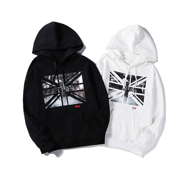 Толстовки для мужчин дизайнер женщин черный белый мода свободного покроя блузка с длинным рукавом уличный стиль печати M-2XL CE98201