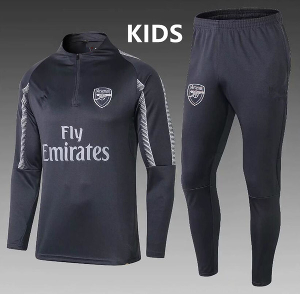 2018 /2019arsenal kids tracksuit OZIL survetement Football jacket YOUTH soccer Alexis Maillot de foot GIROUD LACAZETTE Training suit