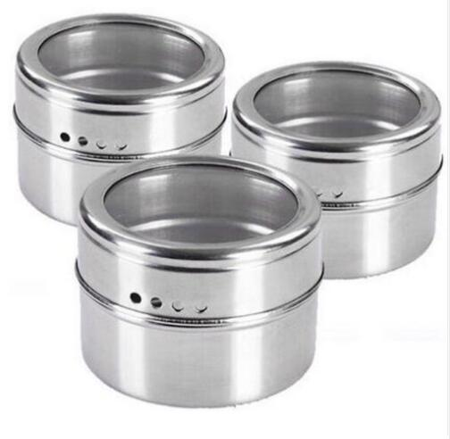 DHL Free shipping 50pcs/lot Magical magnetic Stainless steel spice jar monosexuality tank sauce pot seasoning bottle