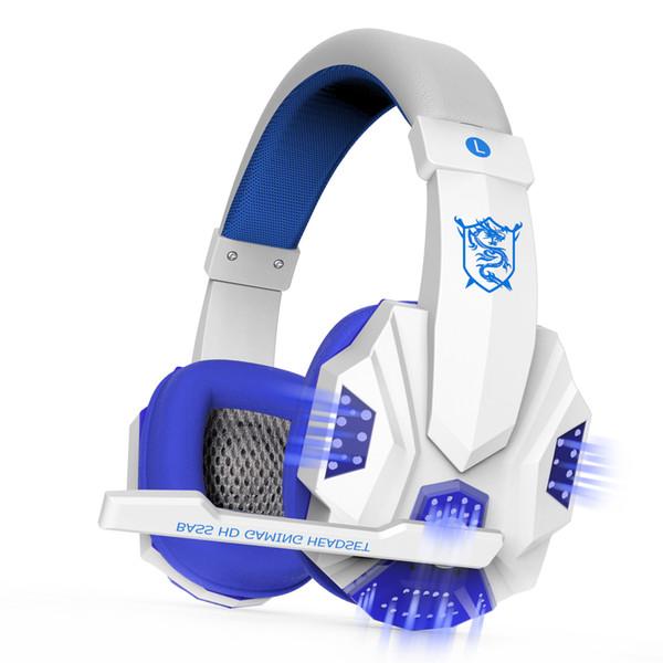 Computer-Stereo-Gaming-Kopfhörer Beste Casque Deep Bass-Spiel Kopfhörer-Headset mit Mikrofon LED-Licht für PC Gamer
