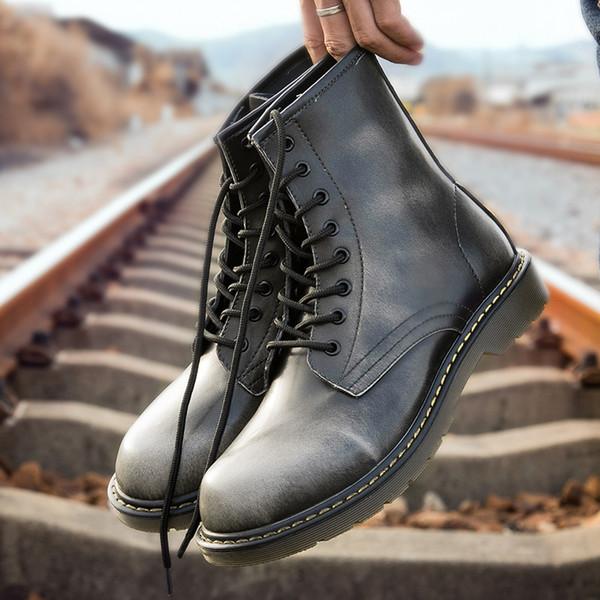 2019 Dr Fashion Botines de invierno / otoño Hombres Motocicleta Hombres Botas Botas de nieve Oxfords Hombres Zapatos Tamaño grande 38-46