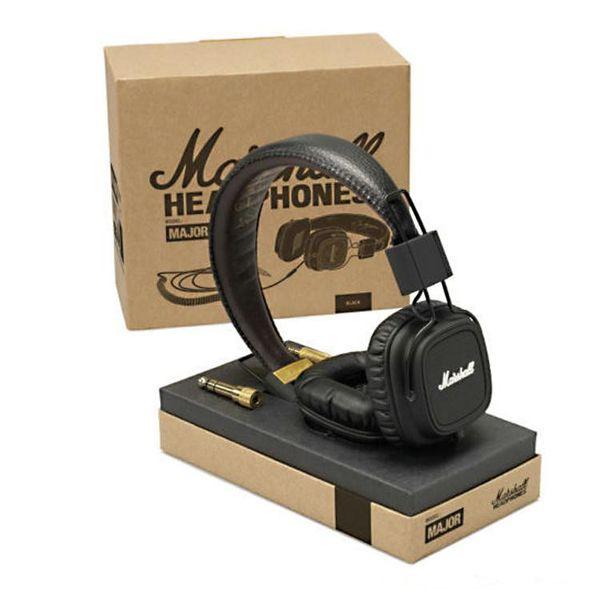 Marshall Major fones de ouvido com microfone Deep Bass DJ Hi-Fi Headphone HiFi Headset Monitor de DJ profissional Headphone Wholesale DHL