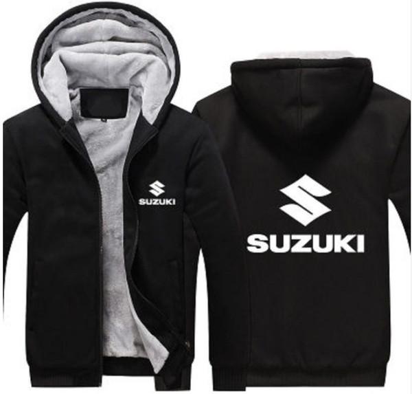 6 Colors 2019 Winter for Suzuki Moto GP Jacket Men Casual Coat Pullover Wool Liner Jacket Motorcycle Racing Hoodie Sweatshirt Z3