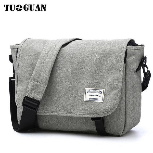 Tuguan Men Messenger Bags Mens Fashion Business Travel Shoulder Bags Female Canvas Briefcase Men Crossbody Bag Handbag Xb1701t