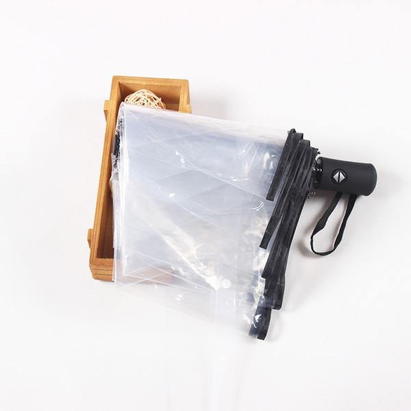 Guarda-chuva dobrável automático Decoração de Casamento Crianças Crianças À Prova de Vento Mini Corporação Dos Homens Transparente Pequena Praia Sol 50YS0023