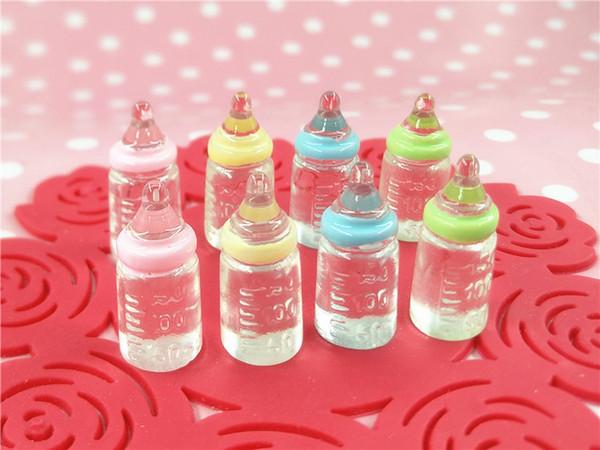 4pcs 1:12 dollhouse Baby Doll Feeding Bottles Disappearing Milk & Juice Feeder for Newborn Doll 2.2cm