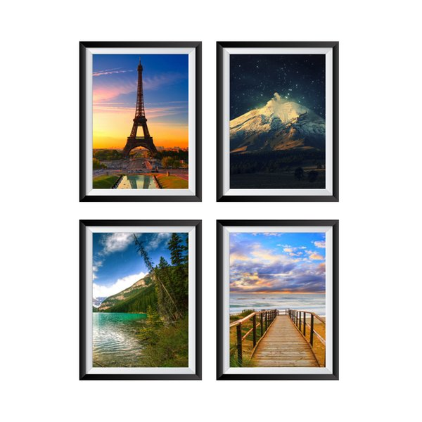 Picture Wall Decor Landscape Painting Wall Stickers for Drawing Living Room Home Decor Paysage Poster Mural Wallpaper Wall Decal