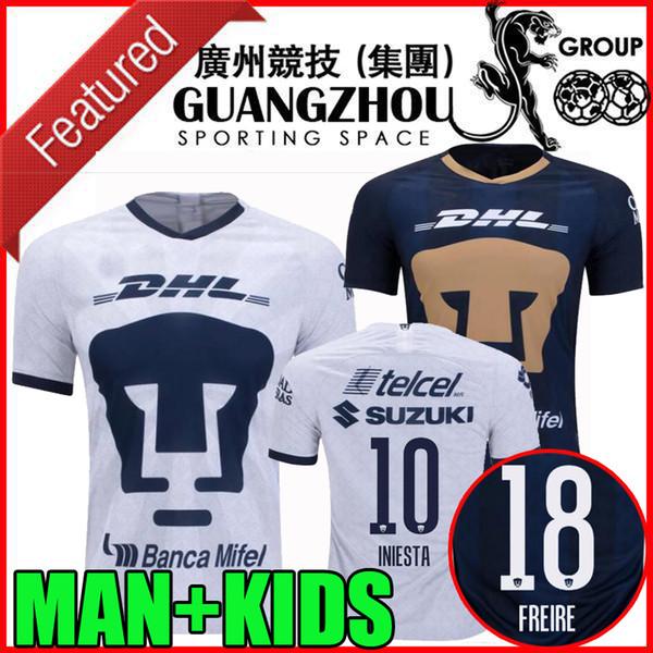 19 20 Camisetas de fútbol de la UNAM Cougar 2019 2020 camisetas de fútbol mexico liga mx INIESTA FREIRE VIGON RODRIGUEZ man kids kit camisetas de fútbol