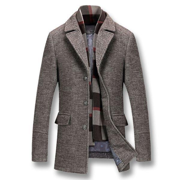 TANG 2019 Moda casual maschile Slim Fit giacche di nylon di grandi dimensioni Jaqueta Outwear Uomo inverno cotone spesso giacche di lana Cappotti