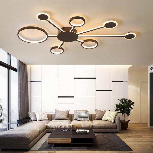 Großhandel Moderne Led Deckenleuchten Für Wohnzimmer Schlafzimmer  Arbeitszimmer Home Kaffee Lampara De Techo Farbe Fertige Deckenleuchte Led  ...