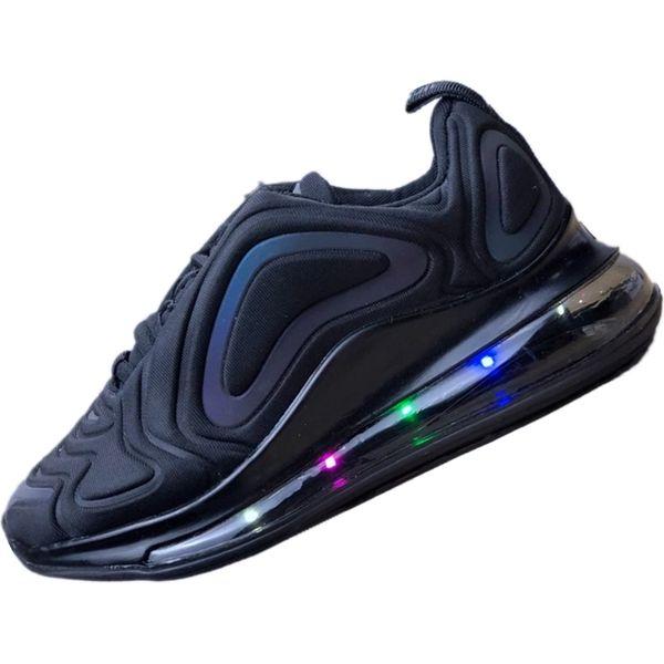 Acheter Nike Air Max 720 2019 OG 72 Enfants Garçons Filles Casual Mode Baskets Silver Bullet Métallique Or Athlétique Marche Chaussures De Sport NOIR