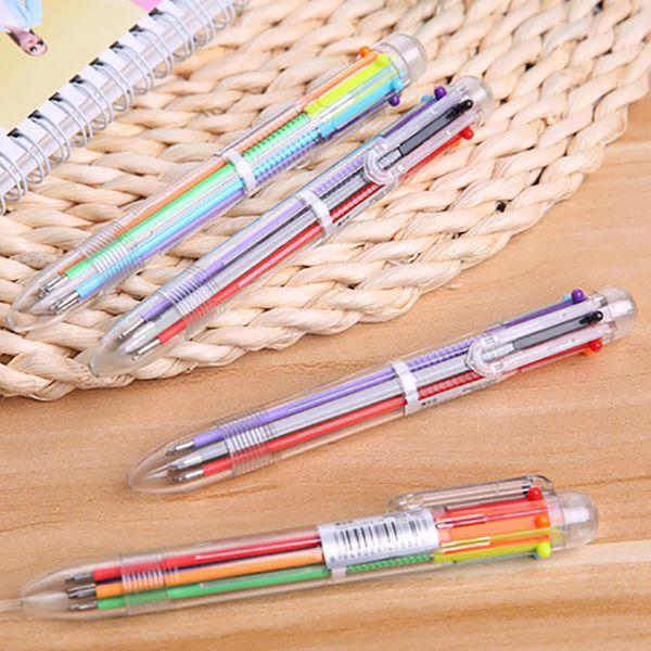 6 in 1 Color Ballpoint Pen Multi-color Pens For School Office School Supplies