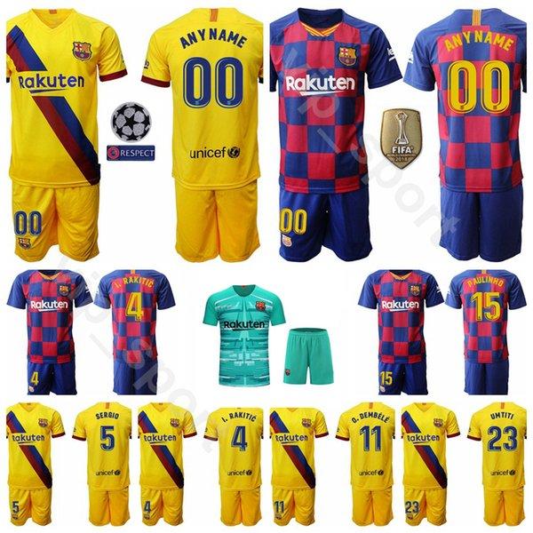 2019 2020 Soccer 17 Maillot Antoine Griezmann Ensemble Homme 11 Ousmane Dembele 4 Ivan Rakitic 15 Clement Lenglet Lionel Messi Maillot De Football Kits
