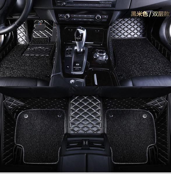 top popular Custom fit car floor mats for Mitsubishi Lancer Galant ASX Pajero sport V73 V93 3D car styling carpeted floor liner 2019