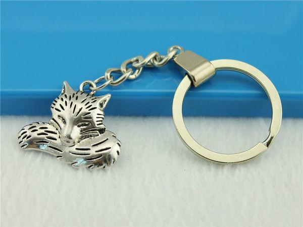 Women Jewelry Key Chain, New Fashion Metal Key Chains Accessory, Vintage Fox Charm Rings Dropship Suppliers