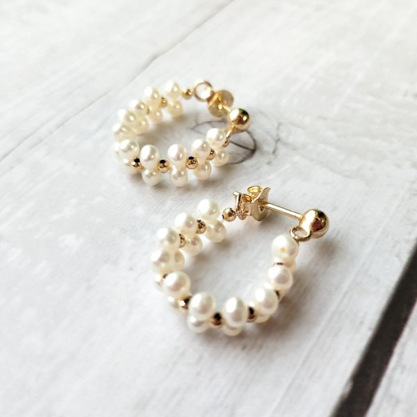 c8c97a3ab76b3 2018 Lii Ji Real Freshwater Pearl Stud Earrings Lace Style 925 Sterling  Silver Gold Plated Earrings Fancy Jewelry From Zeipt, $54.23 | DHgate.Com