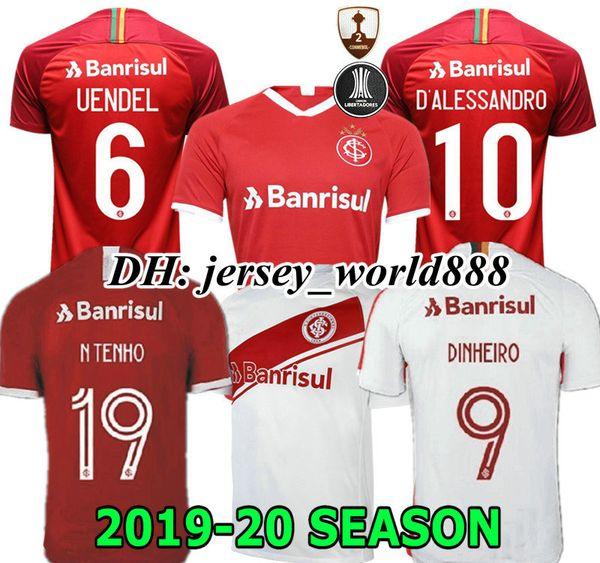 NOUVEAU 19 20 Brésil maillot de football CLUB Internacional RED HOME 2019 2020 maillot de foot gris WOMAN N. LOPEZ D.ALESSANDRO POTTKER TOP