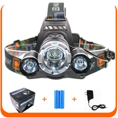 6000 Lumens XM-L T6 LED Headlamp Headlight Camping Head Lamp T6 + 2XPE LED Torch Light with Battery Charger for Outdoor Hunting Fishing