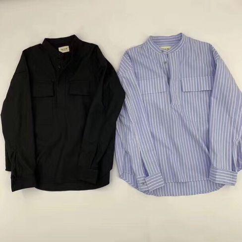 2019ss nuevo top japón hiphop Miedo de dios FOG sexto Hombres Mujeres justin bieber Miedo de dios camisa Moda de gran tamaño Camiseta de algodón de manga larga camisetas