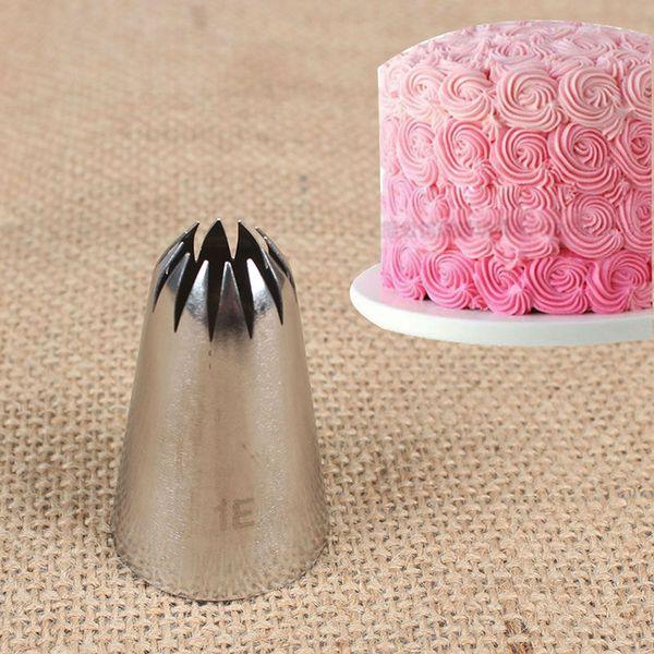 # 1E grande de acero inoxidable metal Cream Consejos de tuberías formación de hielo Decoración de pasteles Boquilla