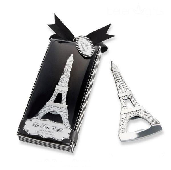 Romantik Düğün Hediyelik Eşya Paris Eyfel Kulesi Şişe Açacağı Yenilik Düğün Parti perakende paketi ile SN3017 Favor hediyeler