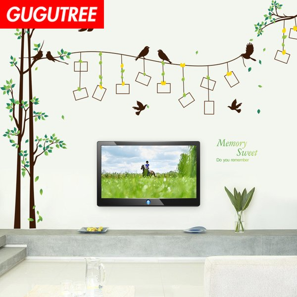 Decorate Home photo trees bird cartoon art wall sticker decoration Decals mural painting Removable Decor Wallpaper G-2098