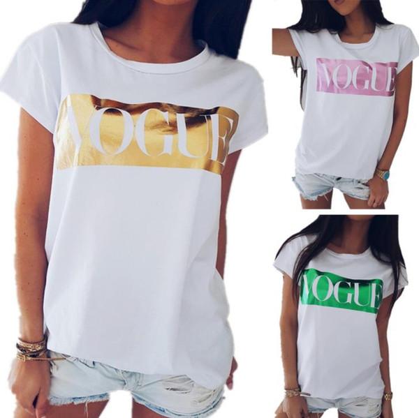 Camiseta para mujer Moda para mujer Camisetas Nuevo tipo Camisetas con estampado para mujer Casual Mujer Damas Camisetas sexy Tops Camisetas 2019 Ropa de mujer