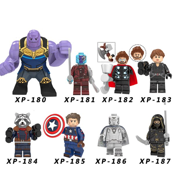 Avengers 4 Endgame Figures Captain America Black Widow Thor Vision Thanos Nebula Building Blocks Toys Gift Kt1025111